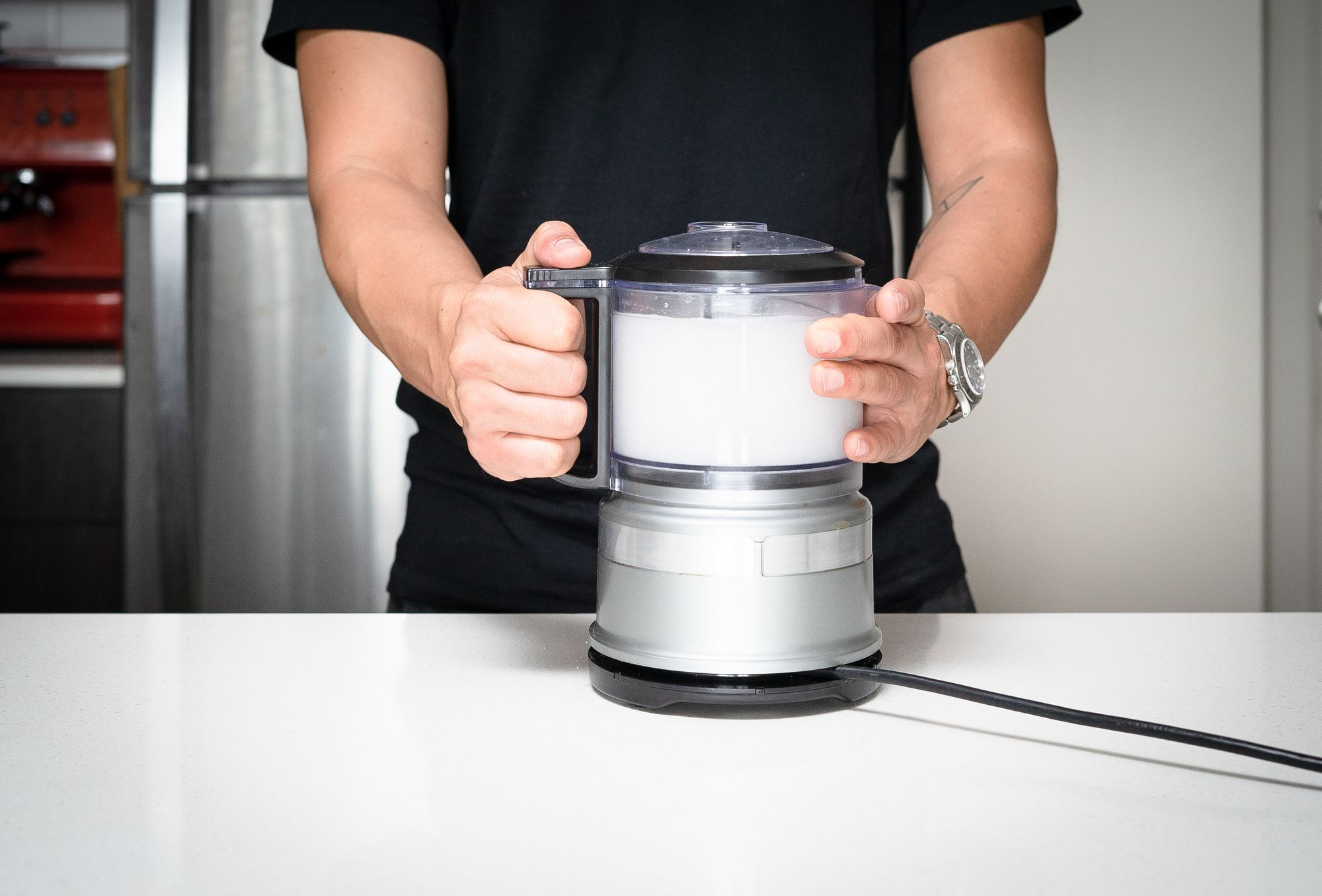 blending water and sugar together