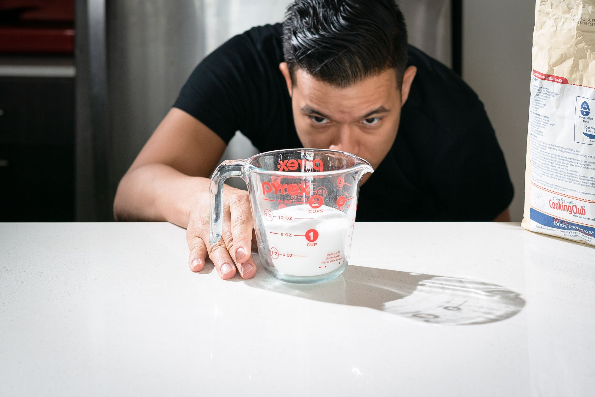 level sugar in cup