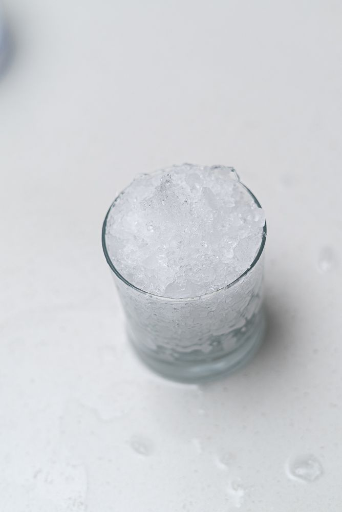 making crushed ice with a food processor 2